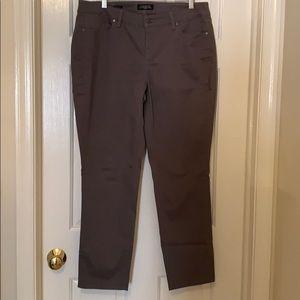 Talbots Gray Cotton Pants Size 14W